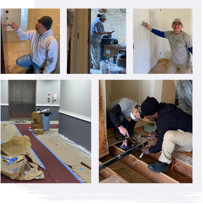 the painting crew, commercial painting, apartment painting